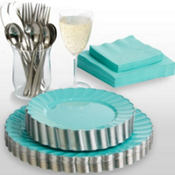 Robin's Egg Blue Premium Scalloped Tableware