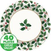 Seasonal Holly Value Plates & Tableware