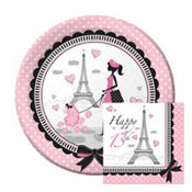 Pink Paris 13th Birthday Party Supplies
