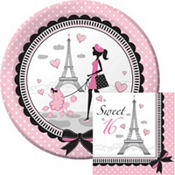 Pink Paris Sweet 16 Party Supplies