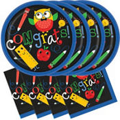 Schoolhouse Chalkboard Graduation Party Supplies