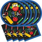 Schoolhouse Chalkboard Graduation Party Supplies