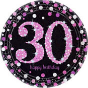 Pink Sparkling Celebration 30th Birthday Party Supplies