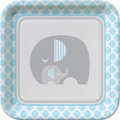 Blue Baby Elephant Baby Shower Party Supplies