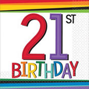 Rainbow 21st Birthday Party Supplies