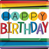 Rainbow Happy Birthday Party Supplies