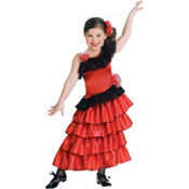 Girls Spanish Princess Costume