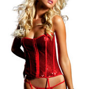 Moulin Rouge Red Sequin Bustier