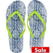 Snakeskin Flip Flops