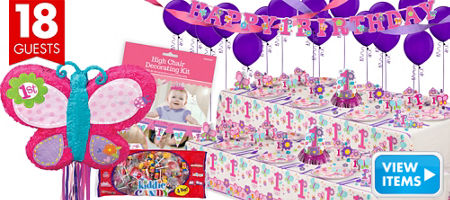 ... Girl 1st Birthday Party Supplies - 1st Birthday Party - Party City