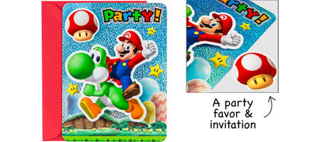 Super Mario Party Supplies Super Mario Birthday Ideas Party City – Mario Party Invites