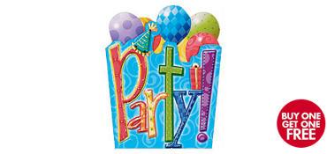 Premium Sliding Party Time Invitations 8ct