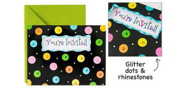 Premium Glitter Dots Invitations 8ct