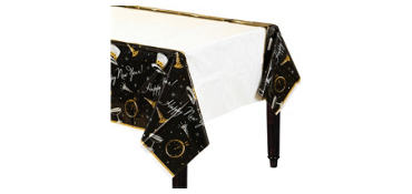 Black Tie New Year's Table Covers 3ct