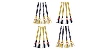 Gold, Black, and Silver Fringed Blowouts 24ct