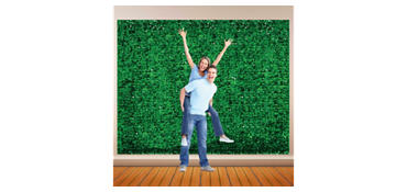 Festive Green Metallic Floral Sheeting