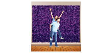 Purple Metallic Floral Sheeting