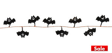 Black Bat Wire Garland 12ft