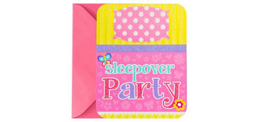 Premium Sliding Slumber Party Invitations 8ct