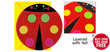 Premium Ladybug Invitations 8ct