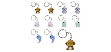 Fuzzy Animal Keychains 24ct