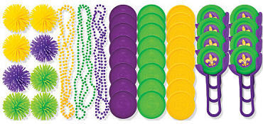 Mardi Gras Throws Mega Value Pack 48ct21¢ per piece!