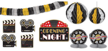 Hollywood Party Decorating Kit 10pc