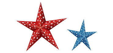 Patriotic Folding Stars 2ct