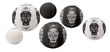 Blood Manor Paper Lanterns 6pc