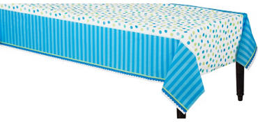 Blue Sweet Little Cupcake Table Cover