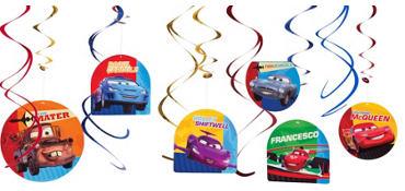 Cars 2 Swirl Decorations 12ct