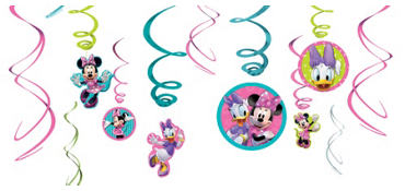 Minnie Mouse Swirl Decorations 12ct