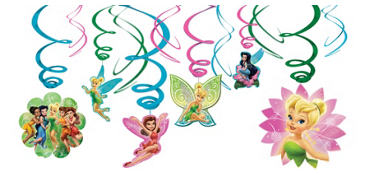 Tinker Bell Swirl Decorations 12ct