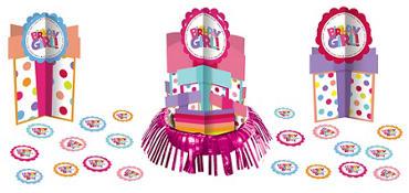 Girl Birthday Centerpiece Kit 23pc