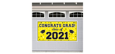 Yellow 2013 Graduation Banner 65in