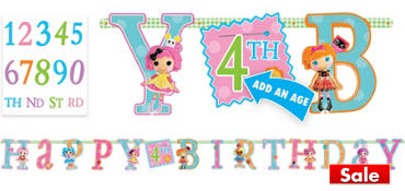 Lalaloopsy Birthday Banner 10ft