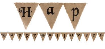 Burlap Happy Halloween Banner