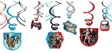 Star Wars Rebels Swirl Decorations 12ct