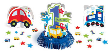 All Aboard 1st Birthday Table Decorating Kit 23ct