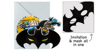 Premium Prismatic Batman Invitations 8ct