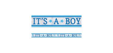 It's a Boy Foil Baby Shower Foil Banner