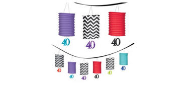 Celebrate 40th Birthday Lantern Garland