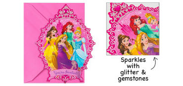 Premium Disney Princess Invitations 8ct