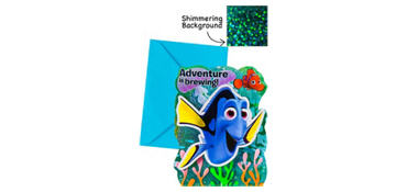 Premium Prismatic Finding Dory Invitations 8ct