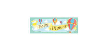 Giant Up & Away Baby Shower Banner