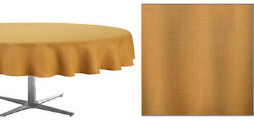 Gold Round Fabric Tablecloth