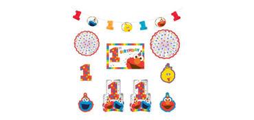 1st Birthday Elmo Room Decorating Kit 10pc
