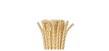 Sunshine Yellow Diamond Paper Straws 24ct