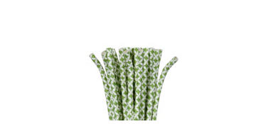 Kiwi Green Diamond Paper Straws 24ct
