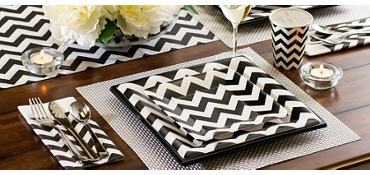 Black Chevron Party Supplies